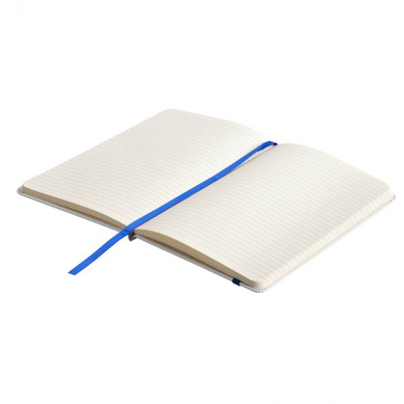 CARMONA notebook with lined pages 130x210 / 160 pages,  blue/white