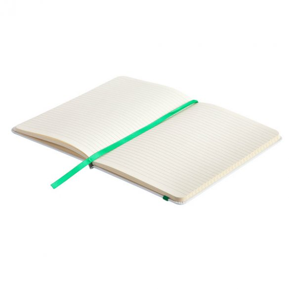 CARMONA notebook with lined pages 130x210 / 160 pages,  green/white