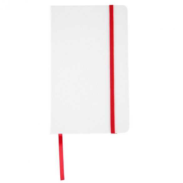 CARMONA notebook with lined pages 130x210 / 160 pages,  red/white