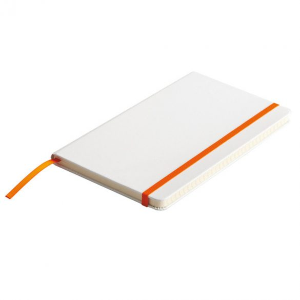 CARMONA notebook with lined pages 130x210 / 160 pages,  orange/white