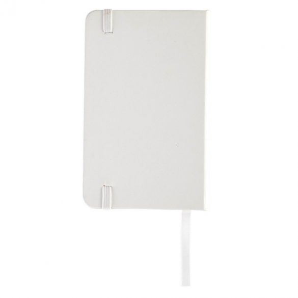 ALBACETE notebook with clean pages 130x210 / 160 pages,  white