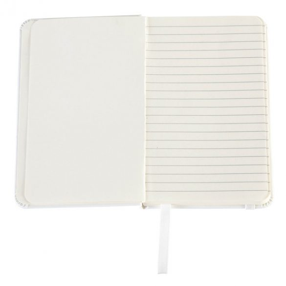 BADALONA notebook with lined pages 90x140 / 160 pages,  white