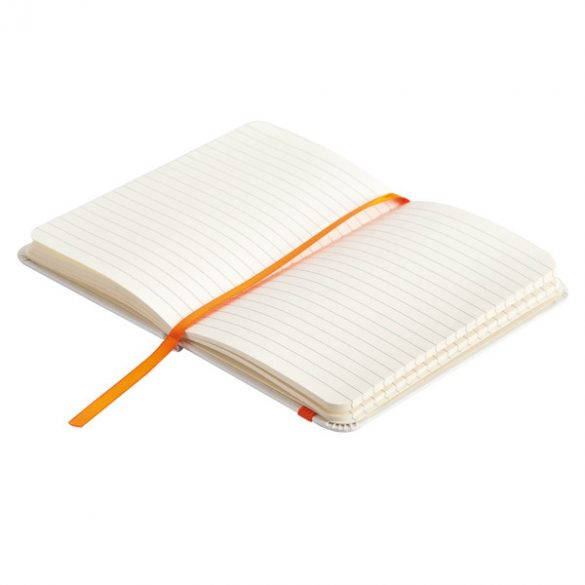 BADALONA notebook with lined pages 90x140 / 160 pages,  orange/white
