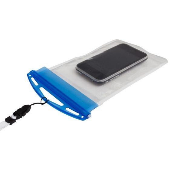 CRYSTAL waterproof phone case,  transparent/blue