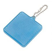 SQUARE REFLECT key ring,  blue
