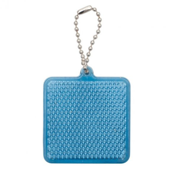 SQUARE REFLECT key ring,  blue