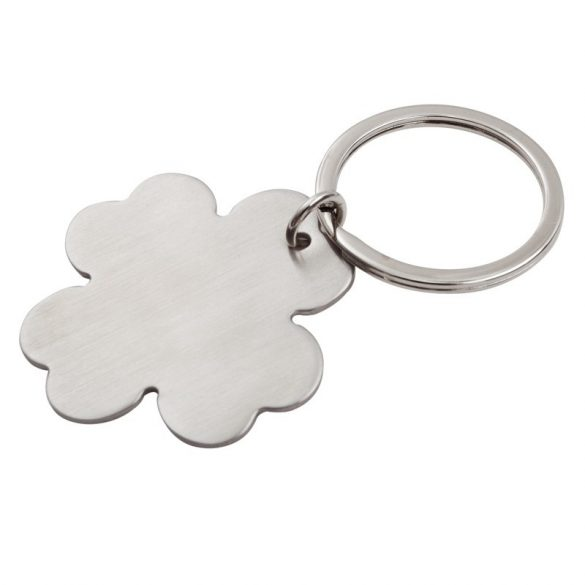 LEAF metal key ring,  silver