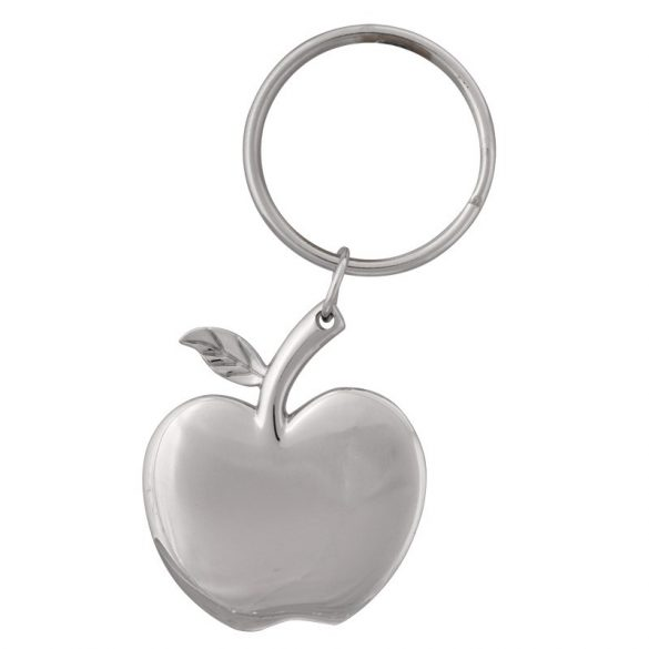 APPLE RING metal key ring,  silver