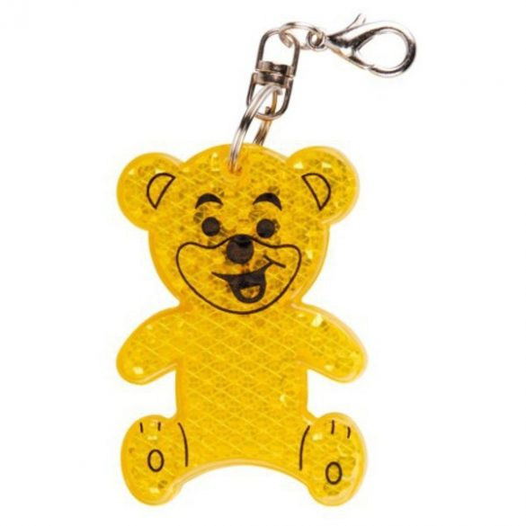 TEDDY RING reflective key ring,  yellow