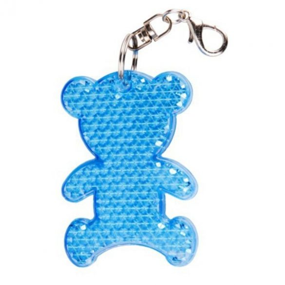 TEDDY RING reflective key ring,  blue