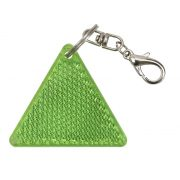 SAFE reflective key ring,  green/white