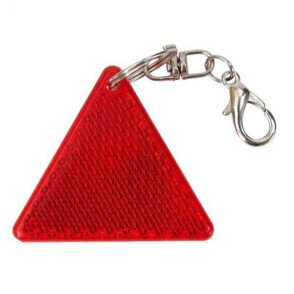 SAFE reflective key ring,  red/white