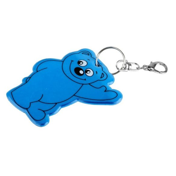 BEARY reflective key ring,  blue