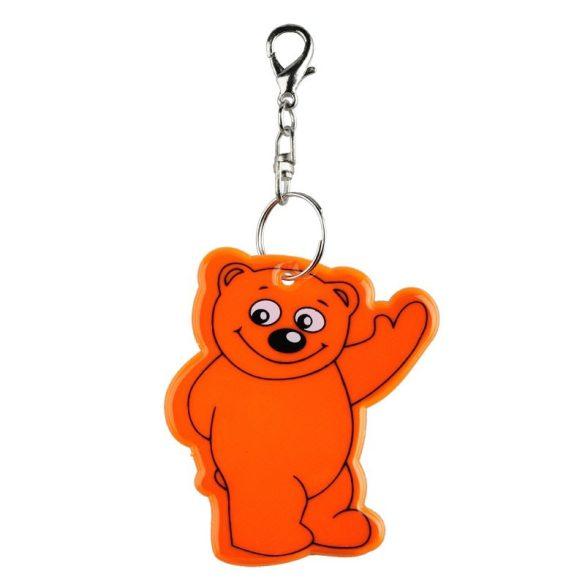 BEARY reflective key ring,  orange