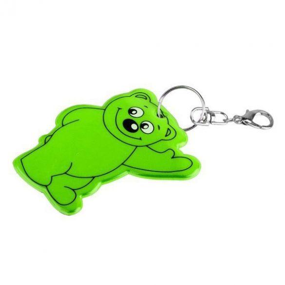 BEARY reflective key ring,  dark green