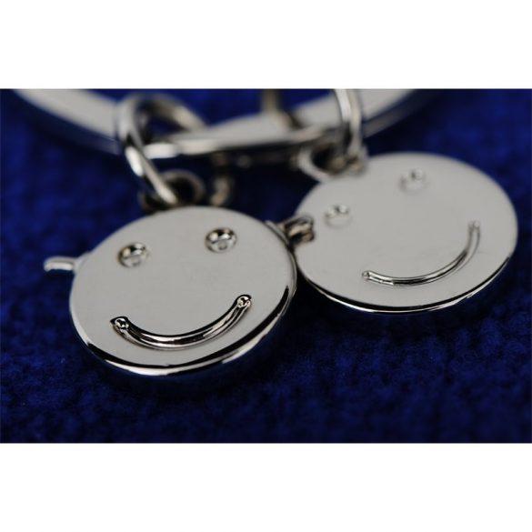 FLAT metal key ring,  silver