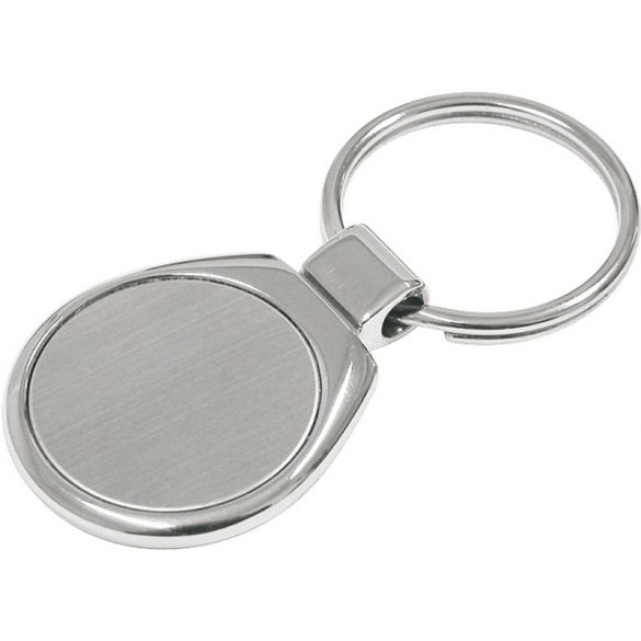 METAL PROMO metal key ring,  silver