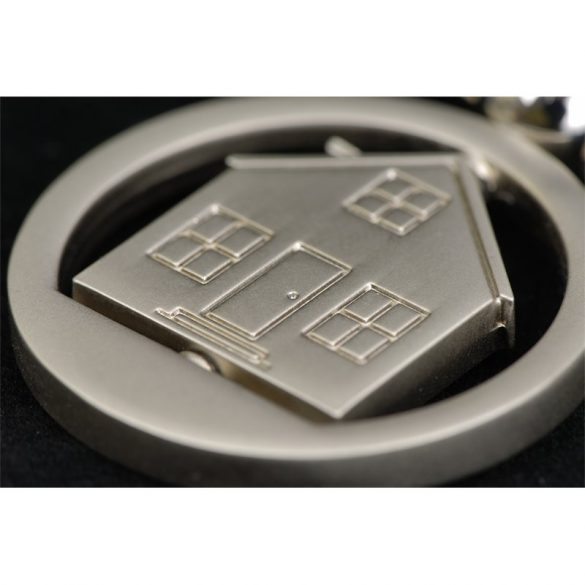 UNDER ROOF key ring,  silver