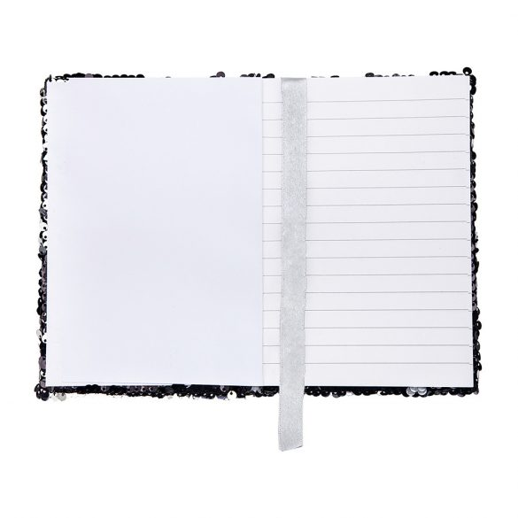 SEQUIN notebook,  black