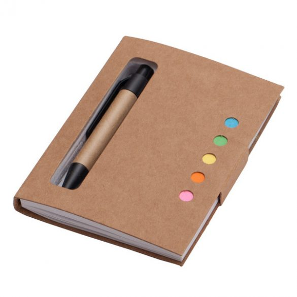 ECO BOOK notebook 80x110 / 100 clean pages and ballpoint pen,  beige
