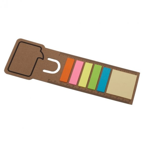 BOOKMARK set of sticky notes with bookmark,  beige