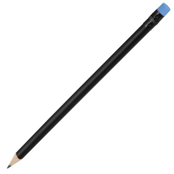 WOODEN BLACK pencil,  blue/black