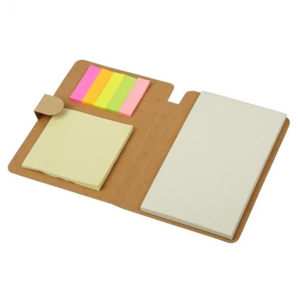 BLAND set of sticky notes and notebook,  beige