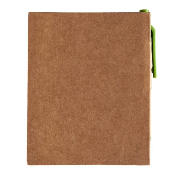 ECO LA LINEA notebook with clean pages 110x150 / 160 pages with pen,  green/beige