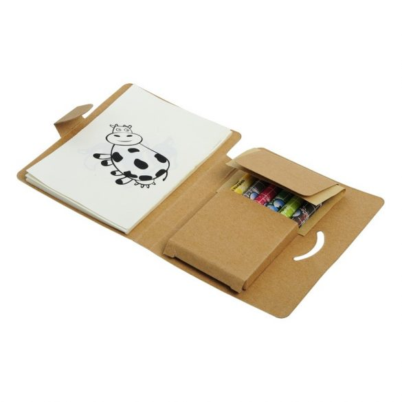 HAPPY COLOUR painting kit,  brown/white