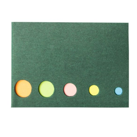 MEMO set of sticky notes,  green