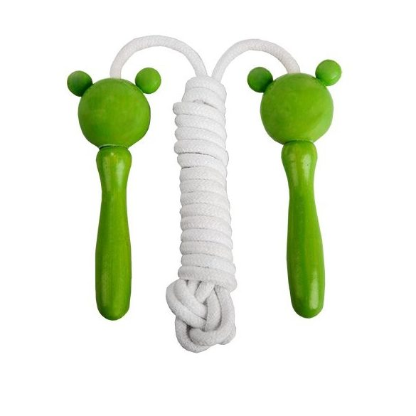 FROGGY jump rope,  white/green