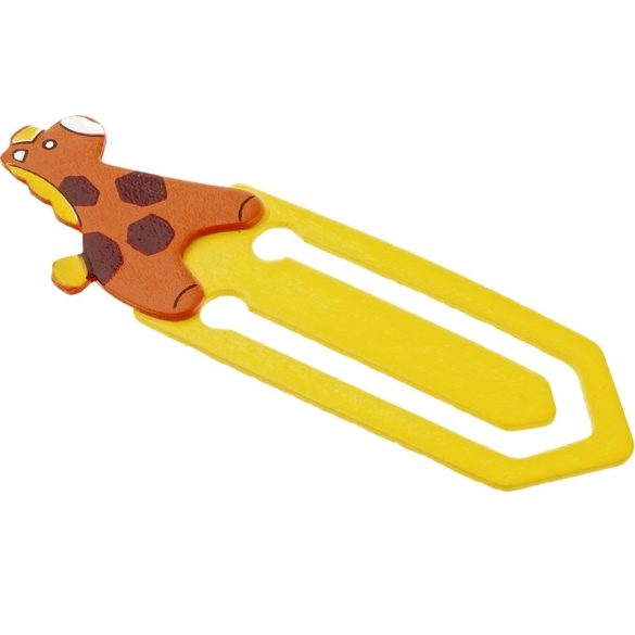 GIRAFFE BOOK bookmark,  yellow