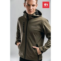 THC ZAGREB. Men's softshell with removable hood