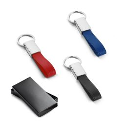 WATOH. Keyring in metal and imitation leather