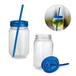 STRAW. Cup with straw 550 ml
