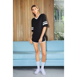 American Apparel AARSABB4481 Black/White S