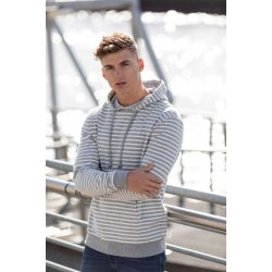 Just Hoods AWJH018 Heather Grey Stripe S