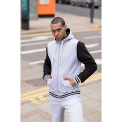 Just Hoods AWJH051 Oxford Navy/Heather Grey S