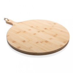Ukiyo bamboo round serving board, brown