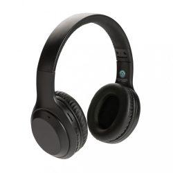 RCS standard recycled plastic headphone, black