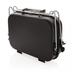 Portable deluxe barbecue in suitcase, black