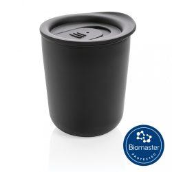 Simplistic antimicrobial coffee tumbler, black