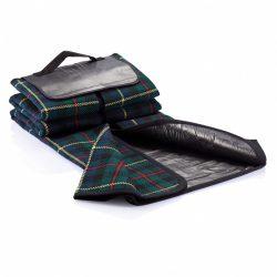 Tartan picnic blanket, black