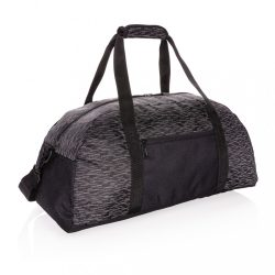 AWARE™ RPET Reflective weekend bag, black
