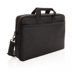 Swiss Peak deluxe vegan leather laptop bag PVC free, black