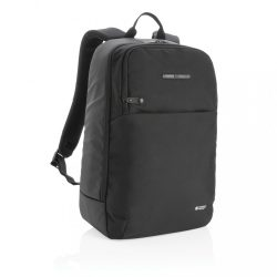 Swiss Peak laptop backpack with UV-C steriliser pocket, blac
