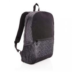 AWARE™ RPET Reflective laptop backpack, black