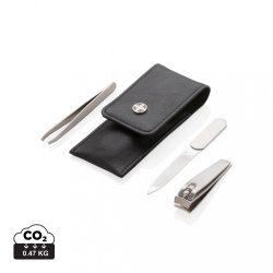 Swiss Peak 3pc manicure set, black