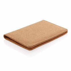 ECO Cork secure RFID passport cover, brown