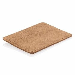 ECO cork secure RFID slim wallet, brown